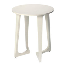 Devin End or Side Table in White