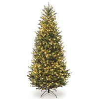 Natural Fraser Slim Fir Tree With Clear Lights, 10'