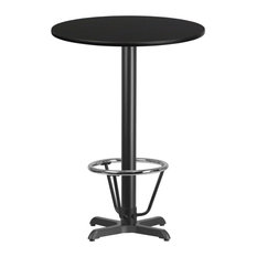 Bar Stool Table Black