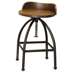 Industrial Bar Stools And Counter Stools by Burleson Home Furnishings