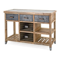 IMAX Worldwide Home   Katelyn Wood Table   Kitchen Islands And Kitchen Carts