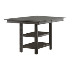 Willow Rectangular Counter Height Table, Distressed Dark Gray