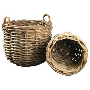 Rovo Rattan Baskets, Round