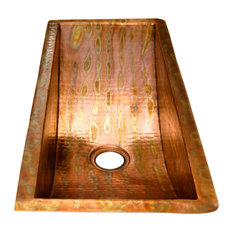 Rectangular Bar Copper Sink Undermount Or Drop In, Without Solid Copper Drain