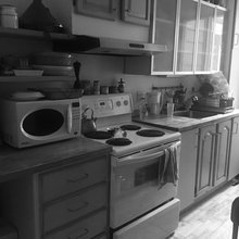 black and white kitchen photos