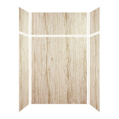 """Transolid  Expressions 6-Panel Shower Wall Kit, 36"""" L x 60"""" W x 96"""" H, Sorento"""