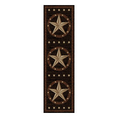 """Mayberry Rugs - Western Star Rug, 2'3""""x7'7"""" - Hall and Stair Runners"""