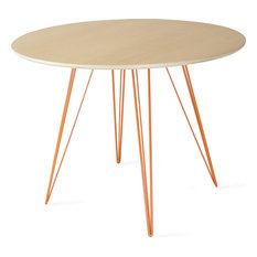 Williams Round Dining Table Orange Small Maple