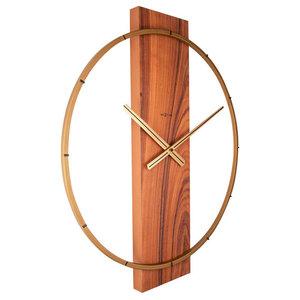 Carl Wall Clock, Brown