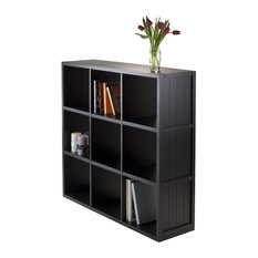 Wainscoting Panel Shelf, Black, 3x3