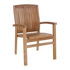 Teak Wood Belize Stacking Arm Chair