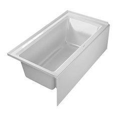 "Duravit Architec 60""x32"" Bathtub With Panel Height 19.25, Drain Left"