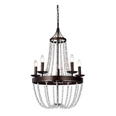 Warehouse of Tiffany Glass and Metal Chandelier, Bronze