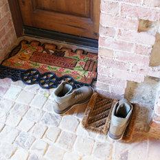 Rubber-Cal - Herringbone Coir Boot Scraper Brush - Doormats