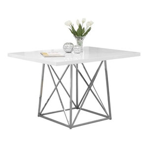 Pemberly Row Dining Table, Glossy White