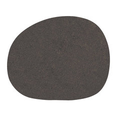 Raw Non-Slip Silicone Placemats, Dark Brown, Set of 4