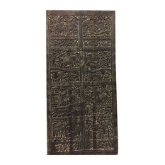 Mogulinterior - Consigned Mogulinterior Antique Tribal barn door Harvest Festival Old World - Wall Panels
