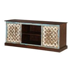 Cincinnati Intricate Handcrafted Wide Accent Media Console Cabinet