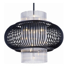 "Aviary 23.5"" 39W 13 LED Pendant Anthracite Clear Glass"