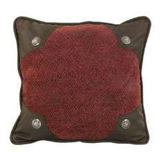 Chenille Pillow With Conchos