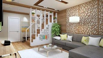 Экостиль в интерьере квартиры 126 кв. м. Фото и чертежи дизайн-проекта