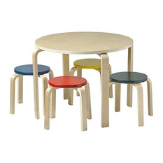 Ecr4Kids Ben2Od Table and Stool Set, Assorted