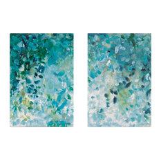"""Misty Forest"" Diptych Canvas Art Print, 160x120 cm"