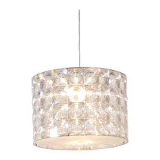 "Lighthouse LED Drop Pendant, Clear Shades, 11.8""x11.8"""