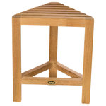 ARB Systems Inc. - ARB Teak Fiji Corner Shaving Foot Rest - Naturally slip resistant, our solid teak shaving foot rest offers comfortable foot support and assists in balance while shaving in the shower. Our quality teak products are made using NATURAL grade A plantation-grown teak, without oils or finishing products. Naturally resistant to mildew build-up, simple periodic cleaning using a soft bristle brush is required to remove soap residue. Do not apply teak oils, or other finishing products.