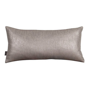 Glam Pewter Kidney Pillow, Down Insert