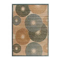 """Nourison Graphic Illusions Area Rug, Teal, 7'9""""x10'10"""""""