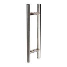 """8"""" Ladder Pull Handle, Frameless Glass, Chrome"""