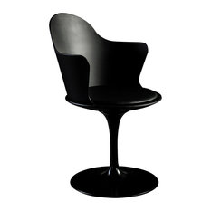 Granada Swivel Dining Chair With Arms, Black