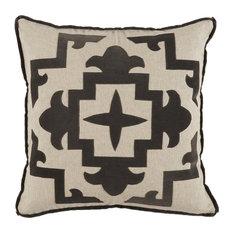 Sultana Velvet Appliqued Pillow, Charcoal