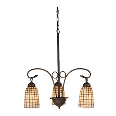 Meyda Tiffany 74059 Terra Bone 3-Light Chandelier, Tiffany Items Finish