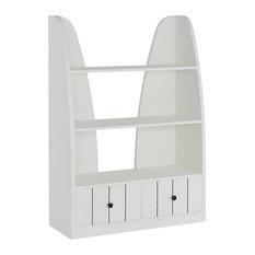 Furniture of America Odessa 3 Shelf Bookcase in White