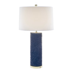 """Resin Spiked Table Lamp, Navy Blue, 31"""""""