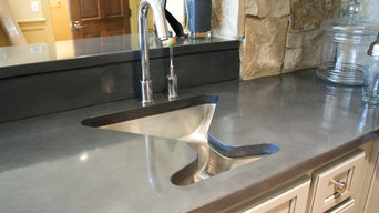 Concrete countertops for Miklich residence