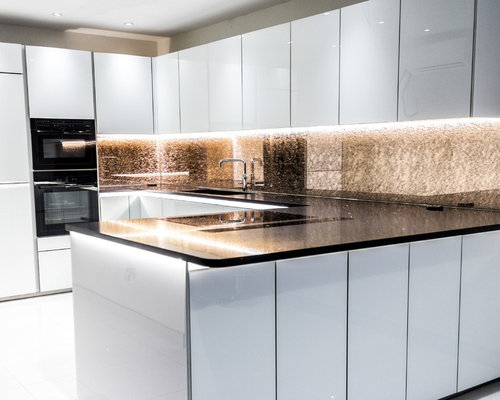 Rose Gold Kitchen Splashback