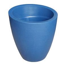 "Mayne Modesto 30"" Outdoor Planters, Neptune Blue"