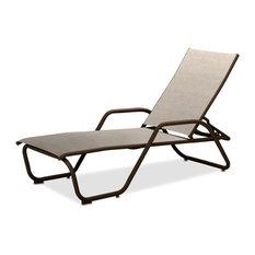 Gardenella Sling 4-Position Chaise, Textured Kona, Natural