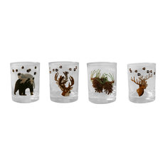 4-Piece Double Old Fashioned Wilderness Mix Set, 14 oz.