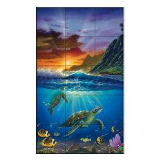 Tile Mural, Turtle Bay by Jeff Wilkie