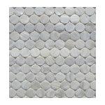 "12""x12"" Aspen White Marble Hexagon Tile - Traditional ..."