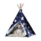 Pet Teepee, Blue With White Stars, Medium