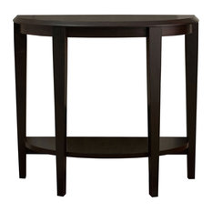 """36"""" Hall Console Accent Table, Cappuccino"""