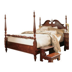 American Drew Cherry Grove Cal King Low Poster Bed