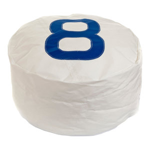 Recycled Sail Duo Bean Bag, White and Blue