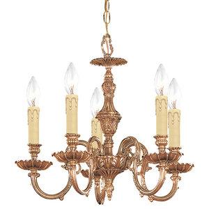 JVI Designs 905-08 5-Light Cast Brass Chandelier