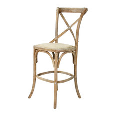 Parisienne Cafe Counter Stool, Limed Gray